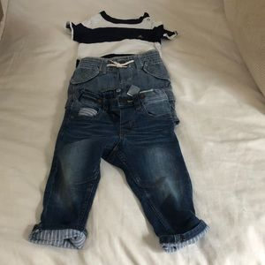 Gap short set and jeans from H&M